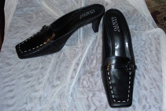 "Womens Shoes..""Franco Sarto"" Size 8M...Black Leather...Gently Worn Once..MULE"