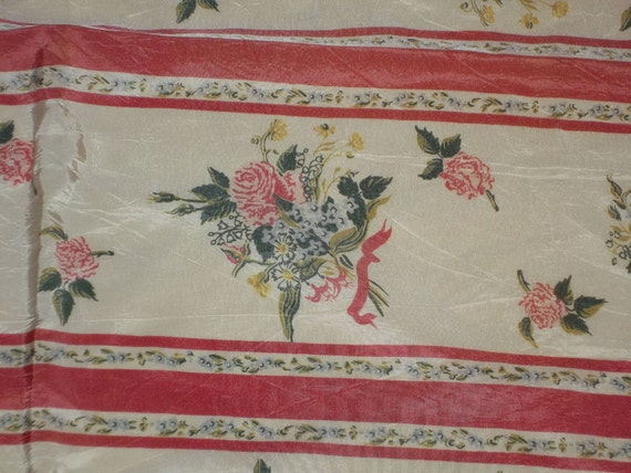 "Vintage Voile Scarf Shawl Cottage Chic...34"" by 39"" Square"