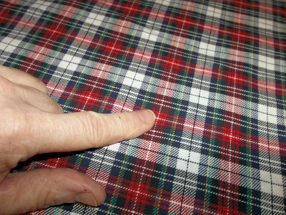 "2 Yards Vintage Cotton Plaid Fabric...60"" wide"
