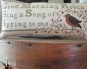Cross stitch pattern  Spring Robin