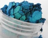 Crush  Mineral Makeup EyeShadow  5g Sifter Jar Blue Green Eye Shadow Petite Size Duo Chrome