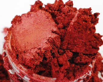 Pinup  Red Ruby Mineral Makeup Vegan Eye Shadow 5g Sifter Jar Red Eyeshadow Petite Size