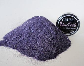 Violette Makeup  Glitter EyeShadow  5g Jar Eye Shadow Violet Purple