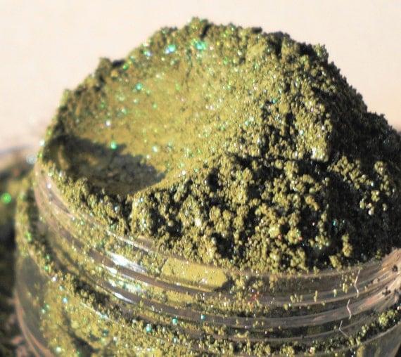 British Racing Mineral Makeup EyeShadow  5g Sifter Jar Green Eye Shadow Petite Size