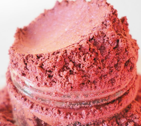 Stupid Girl  pink Rose Mineral Makeup EyeShadow Organic Chrome Color Shift  Eye Shadow Vegan Samples deep pink Natural Eyeliner
