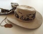 Vintage Hat Leather Australian Bush Safari SALE