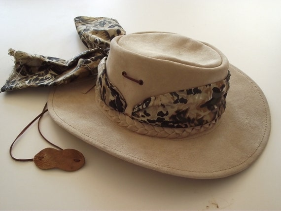 Vintage Hat Leather Australian Bush Safari SALE
