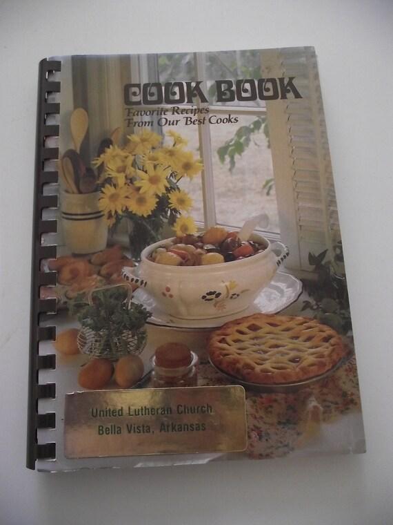 Vintage Cookbook Arkansas Lutheran Church ladies Recipes -spiral bound