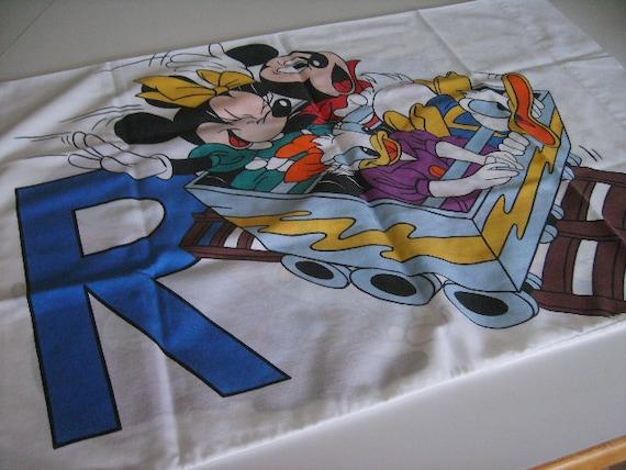 Vintage pillowcase Walt Disney Mickey mouse Donald Duck Goofy