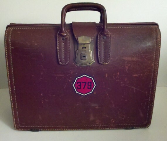 Super Savings - Antique Heavily Distressed Leather Luggage or Briefcase