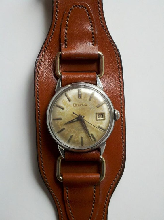 vintage wide leather band