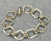 Fine Silver Chain Link Bracelet - Fine Silver Charm Bracelet