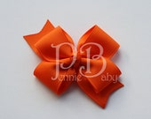 Set of 2 Small Orange Sophie Bows
