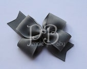 Set of 2 Small Grey Sophie Bows