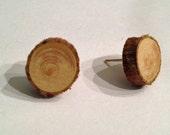 Wood Post Earrings