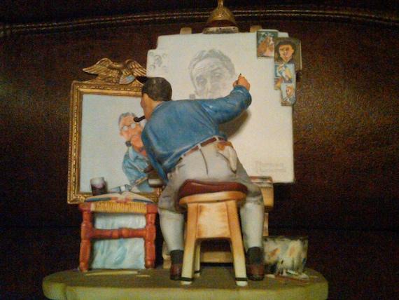 "Norman Rockwell ""Self Portrait"" Figurine"