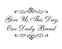 Christian Vinyl Decal Vinyl Wall Decals Daily Bread Vinyl Wall Quotes Religious Wall Art Vinyl Words Wedding Gift Living Room Family Kitchen
