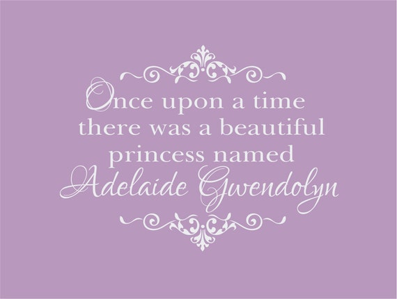Items Similar To Once Upon A Time There Was A Princess