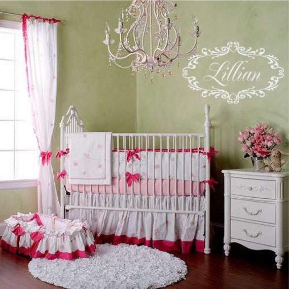 10 Shabby Chic Nursery Design Ideas: Items Similar To Shabby Chic Vinyl Wall Decal