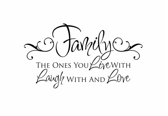 Foyer Room Quotes : Family vinyl wall decal live laugh love quote by