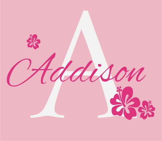 Items Similar To Flower Wall Decals Personalized Name And