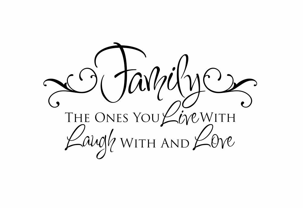 Family Love Quotes And Sayings: Family Vinyl Wall Decal Live Laugh Love Wall Quote By