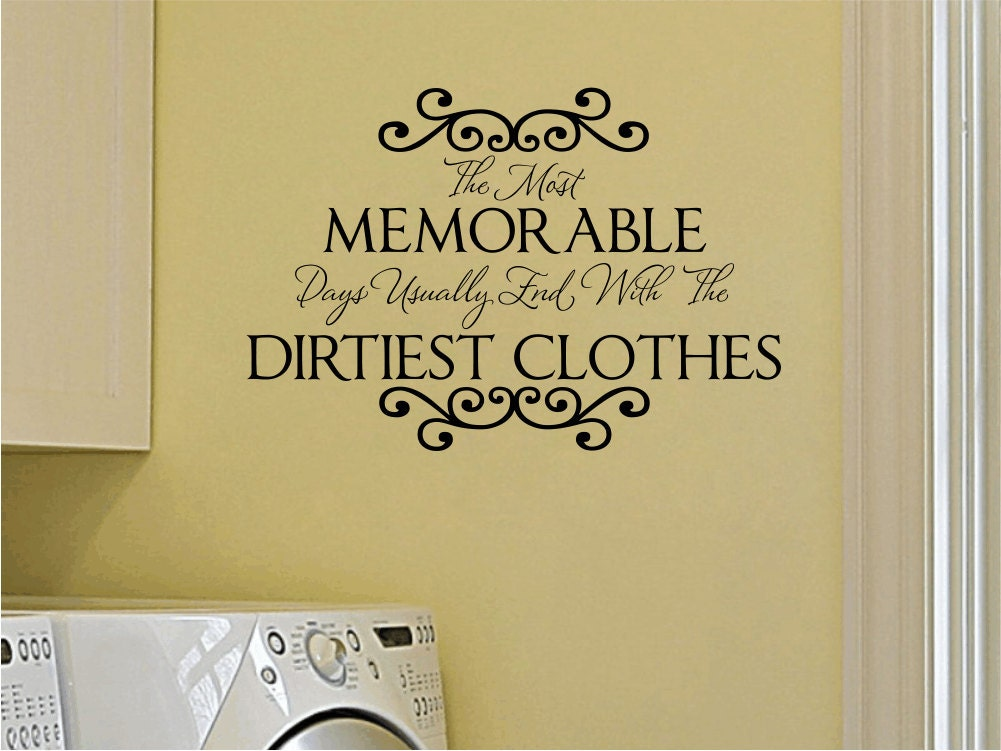 Https Www Etsy Com Listing 101498628 Laundry Room Vinyl Wall Decal Memorable