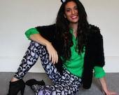 Cat Leggings - Tights - Green Eyed Cat Printed Leggings  - S/M
