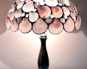 Stained Glass  Seashells Table Lamp