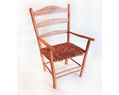 Miniature Cherry Ladder Back Chair with Wych Elm bark seat