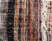 "Natural Dyed Cushion Hand Woven -  Wool Pillow Cover - 15"" x 16"" Black, red, orange, white, grey"