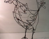 Rooster wire sculpture
