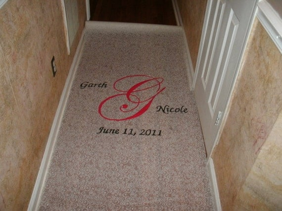 Personalized Monogrammed Aisle Runner