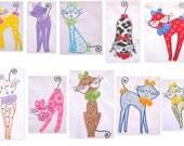Swirly Kitties Applique Machine Embroidery Design Pack - 5x7