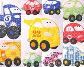 Fun Applique Cars Full Set Machine Embroidery Designs - 4x4, 5x7 & 6x8