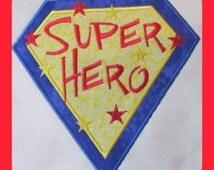 Super Hero Machine Applique Embroidery Design - 4x4, 5x7 & 6x8