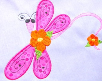 Dragonfly Applique Machine Embroidery Design 4