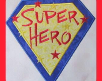 Super Hero Machine Applique Embroidery Design - Super Hero Applique Design- Applique Super Hero Design - Applique Design Super Hero