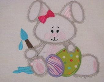 Easter Bunnies 03 Machine Applique Embroidery Design - 4x4, 5x7
