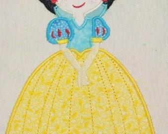 Princess 01 Machine Applique Embroidery Design - Princess Applique Design - Applique Princess Design - Princess Design - Applique Design