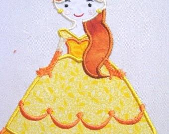 Princess 02 Machine Applique Embroidery Design - 5x7