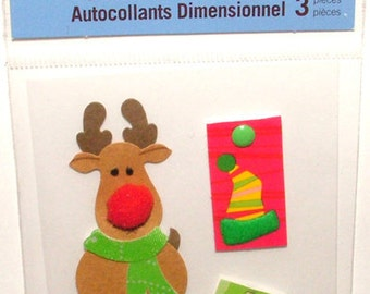 Recollections Dimensional Stickers - Rudolph the Reindeer