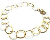 Classic Wide Link Oval Gold Fill Chain Bracelet
