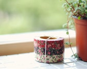 Antique Flower  Pattern Fabric  Tape (1Roll-Color Option)