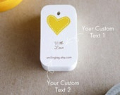 I Heart You Personalised Gift Tags - Wedding Favor Tags - Thank you tags - Hang tags - Wedding Gift Tags - Set of 40 (Item code: J213)