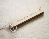 Rustic Wedding Favor Tags - Personalized Wedding Favor Rustic Kraft Tags - Thank you- Bridal Shower- Party Tag- Set of 25 (Item code: J262)