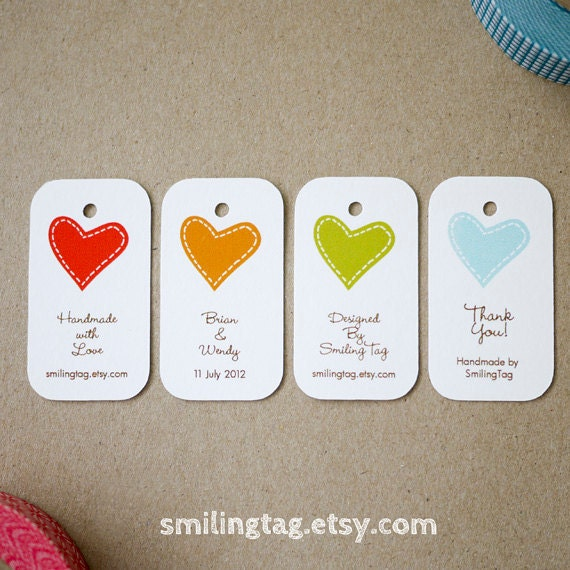 I Heart You Personalised Gift Tags