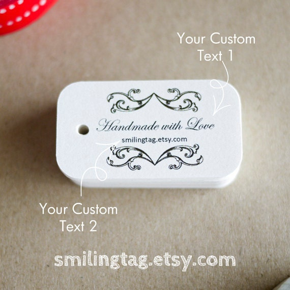 Vintage Elegance Custom Wedding Gift Tags Thank You