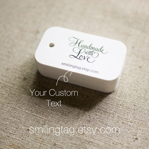 Handmade Wedding Gift Tags : Handmade with Love Personalized Gift TagsWedding Favor TagsEtsy ...