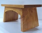Child Custom Wood Step Potty Stool Footstool Splayed Foot Stool
